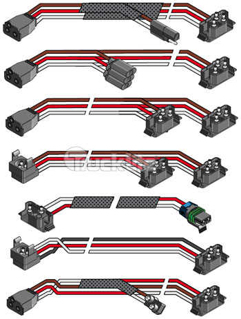 truck lite pigtail w adapter 2 94932