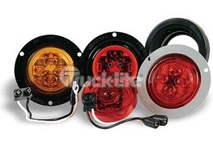 Truck-Lite Led Mdl 10 Combo-Low Profile Gray Flange Kit 10091Y
