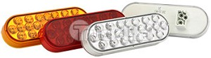Truck-Lite Lamp-M/C Amber Led 24-Diode Clear Lens 6051A