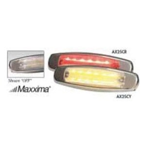 "Maxxima 6"" Clear Lens Amber Led C/M 12-Diode M20332YCL"